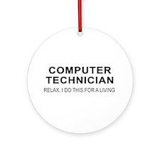 Computer Tech Ornament (Round)