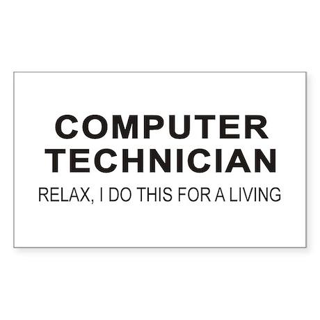 Computer Tech Rectangle Sticker
