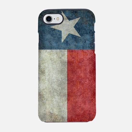 Texas state flag vintage retr iPhone 7 Tough Case