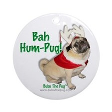 Pug Christmas Ornament
