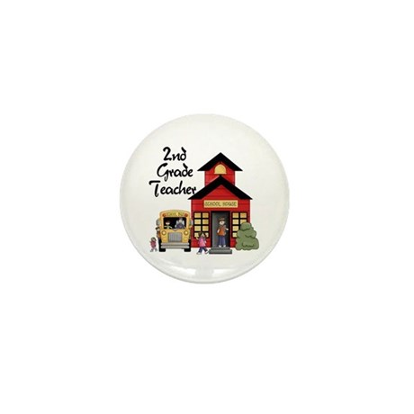 2nd Grade Teacher Mini Button