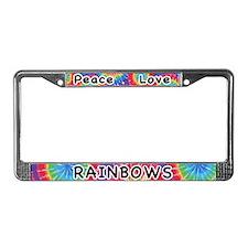Peace Love Rainbows License Plate Frame