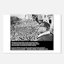 Salvador Allende's Last Words Postcards (Package o
