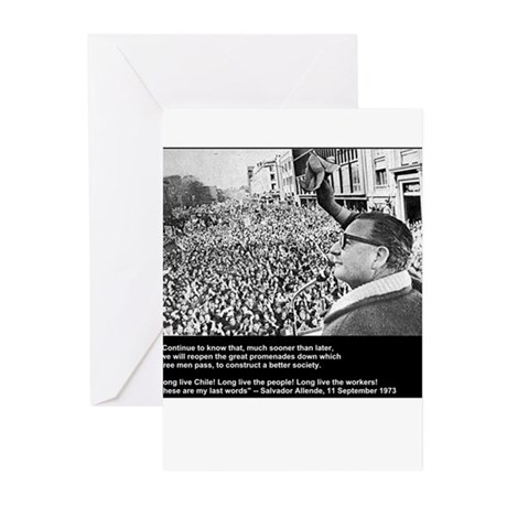 Salvador Allende's Last Words Greeting Cards (Pack