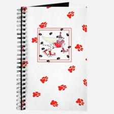 Gulliver's Angels Dalmation Red Paws Journal