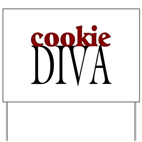 Cookie Diva Yard Sign
