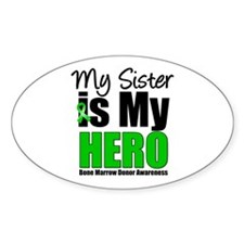 My Sister is My Hero BMT Oval Decal