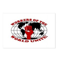 WORKERS OF THE WORLD UNITE! Postcards (Package of