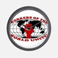 WORKERS OF THE WORLD UNITE! Wall Clock