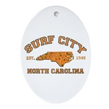 Surf City NC Oval Ornament