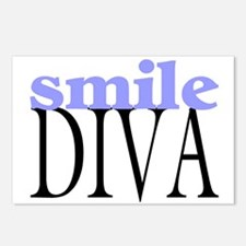 Smile Diva Postcards (Package of 8)