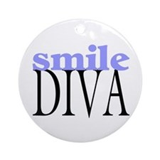 Smile Diva Ornament (Round)