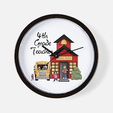 4th Grade Teacher Wall Clock