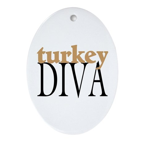 Turkey Diva Oval Ornament