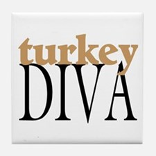 Turkey Diva Tile Coaster