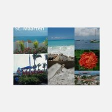 St. Maarten Collage by Khonce Rectangle Magnet
