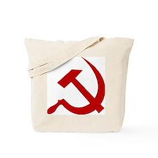 Red Hammer & Sickle Tote Bag