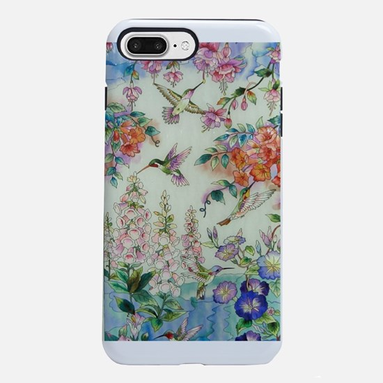 Hummingbirds and Flowers iPhone 7 Plus Tough Case