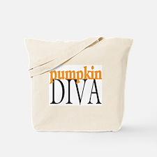 Pumpkin Diva Tote Bag