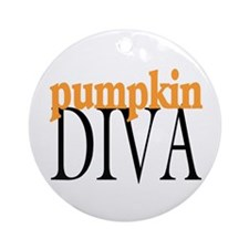 Pumpkin Diva Ornament (Round)