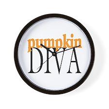 Pumpkin Diva Wall Clock