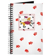 Gulliver's Angels Honey Lab Red Paws Journal