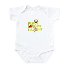 Peace love & lollipops t-shir Infant Bodysuit