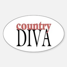 Country Diva Oval Decal