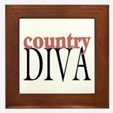 Country Diva Framed Tile