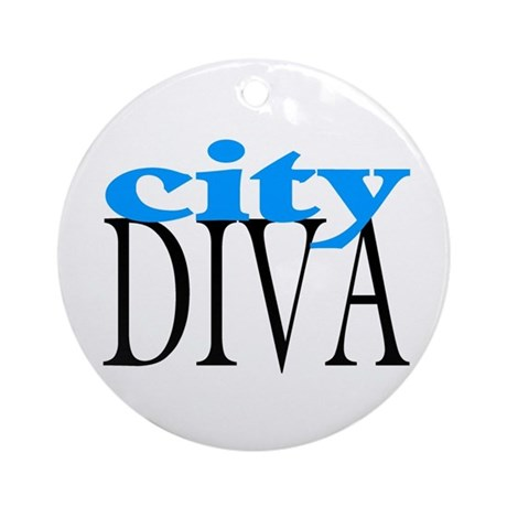 City Diva Ornament (Round)