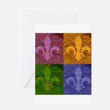 Fleur De Lis Art - Greeting Card