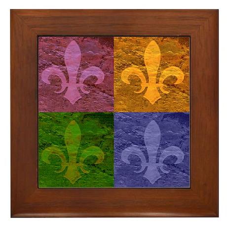 Fleur De Lis Art - Framed Tile