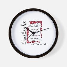 Twilight Dear Isabella Wall Clock