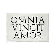 Omnia Vincit Amor Rectangle Magnet (100 pack)