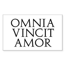 Omnia Vincit Amor Rectangle Decal