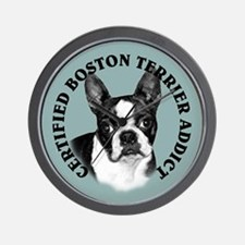 boston terrier addict Wall Clock