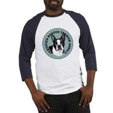 boston terrier addict Baseball Jersey