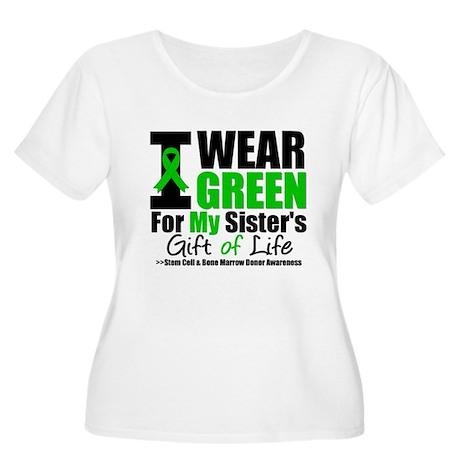 I Wear Green For My Sister Women's Plus Size Scoop