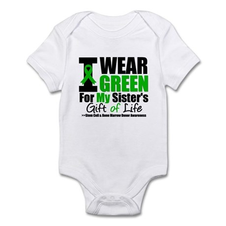 I Wear Green For My Sister Infant Bodysuit
