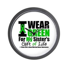 I Wear Green For My Sister Wall Clock
