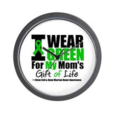 I Wear Green For My Mom Wall Clock
