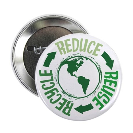 """Recycle Green 2.25"""" Button"""