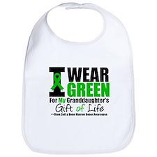 I Wear Green Granddaughter Bib