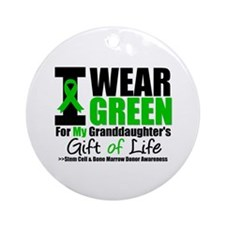I Wear Green Granddaughter Ornament (Round)