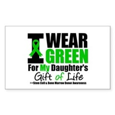 I Wear Green For My Daughter Rectangle Decal