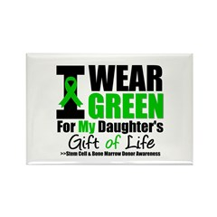 I Wear Green For My Daughter Rectangle Magnet (10