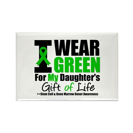I Wear Green For My Daughter Rectangle Magnet (100
