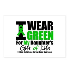I Wear Green For My Daughter Postcards (Package of