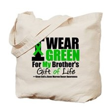 I Wear Green For My Brother Tote Bag