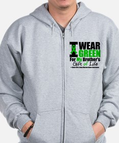 I Wear Green For My Brother Zip Hoodie